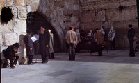 Devout Praying by Western Wall