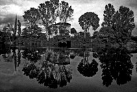 b-w Reflections Along the Lot River, France