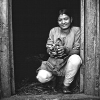 Nepali Woman at the Door