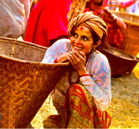 A Girl at the Chainpur Market