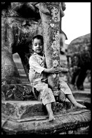 Boy with an Elephant Statue