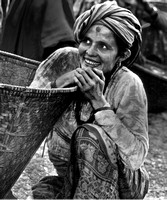 A Girl at the Chainpur Market, Arun Valley, Nepal
