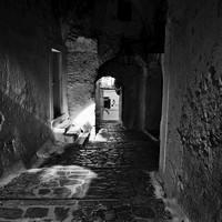 ITALYS' HILL TOP  VILLAGES IN BLACK AND WHITE
