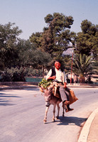 MAN ON DONKEY GOES TO MARKET