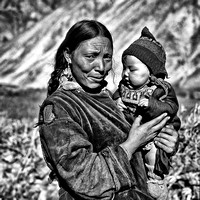 Mother and Child, Leh, Ladakh
